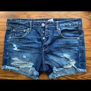 American Eagle Distressed Denim Shorts NWT